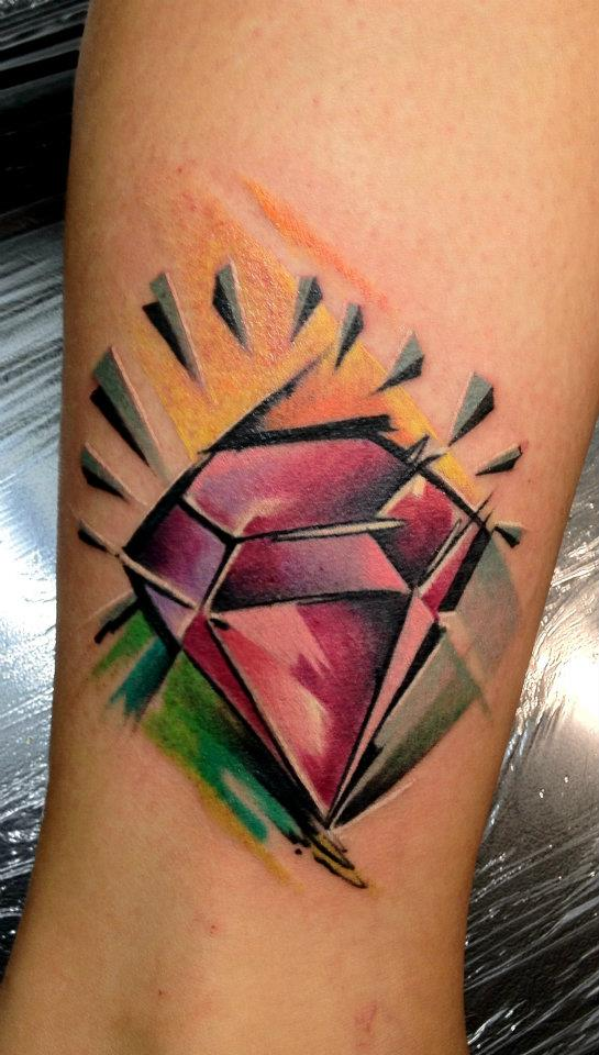 Abstract Diamond Tattoo Design For Sleeve By Peter Bobek