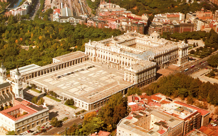 Aerial View Of Royal Palace Of Madrid