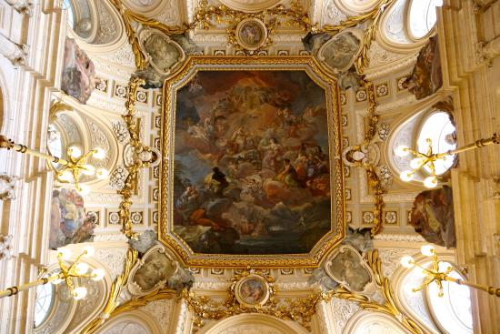 Amazing Ceiling Architecture Inside The Royal Palace Of Madrid