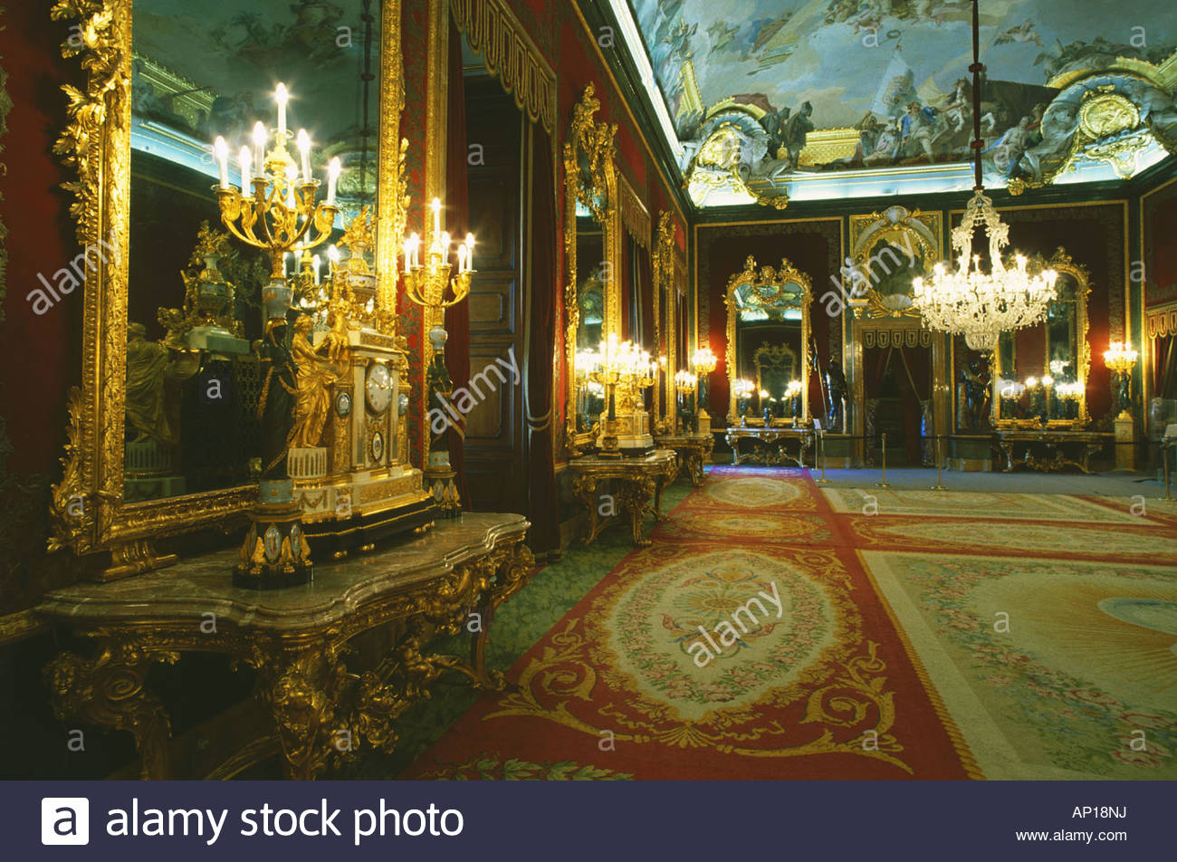 Amazing Throne Room Inside The Royal Palace Of Madrid