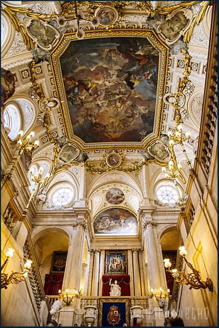Architecture Inside The Royal Palace Of Madrid