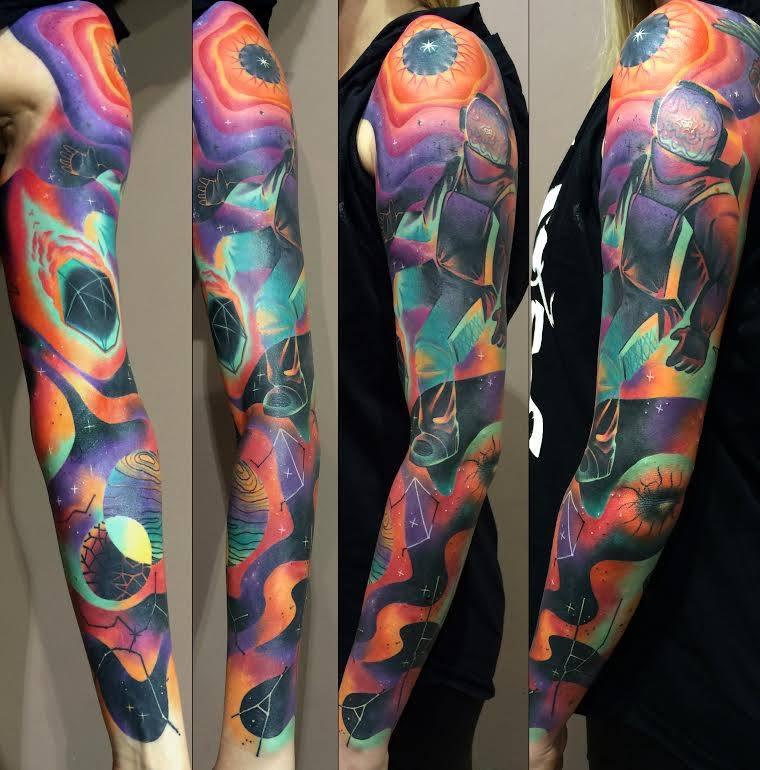 Astronaut Tattoo Ideas: 48+ Latest Full Sleeve Tattoos