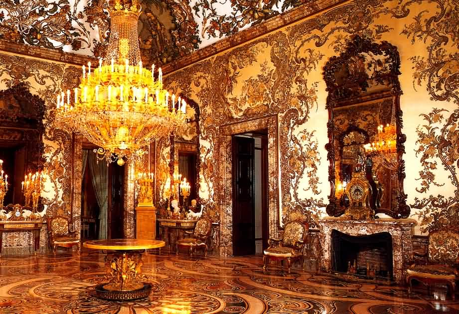 Beautiful Room Inside The Royal Palace Of Madrid