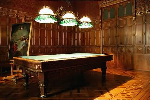Billiards Room Inside The Royal Palace Of Madrid