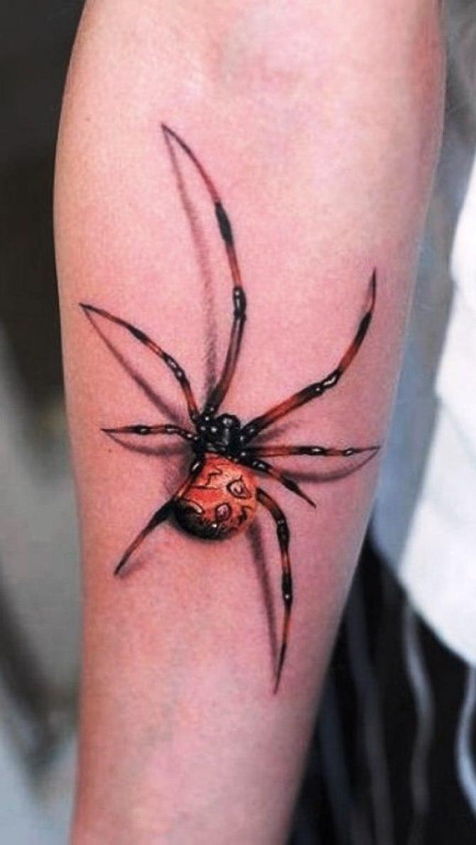 35 popular realistic spider tattoos ideas for Black widow spider tattoo