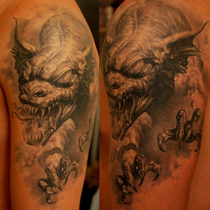Dragon Tattoo Over Shoulder: 25+ Incredible 3D Dragon Tattoos