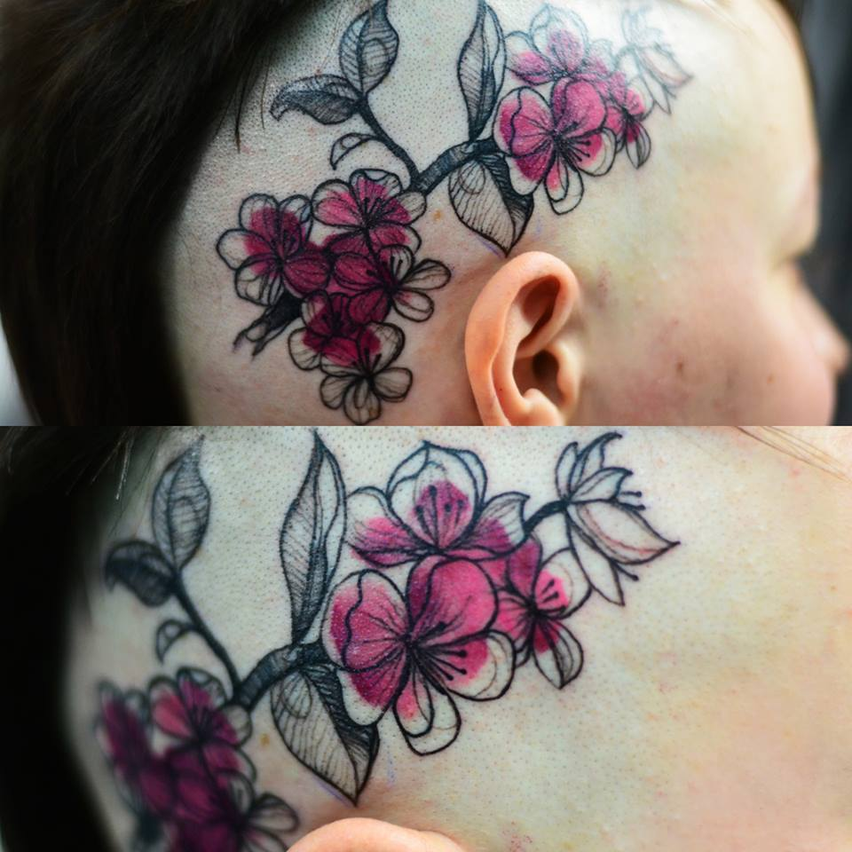 18 awesome flower tattoo designs. Black Bedroom Furniture Sets. Home Design Ideas