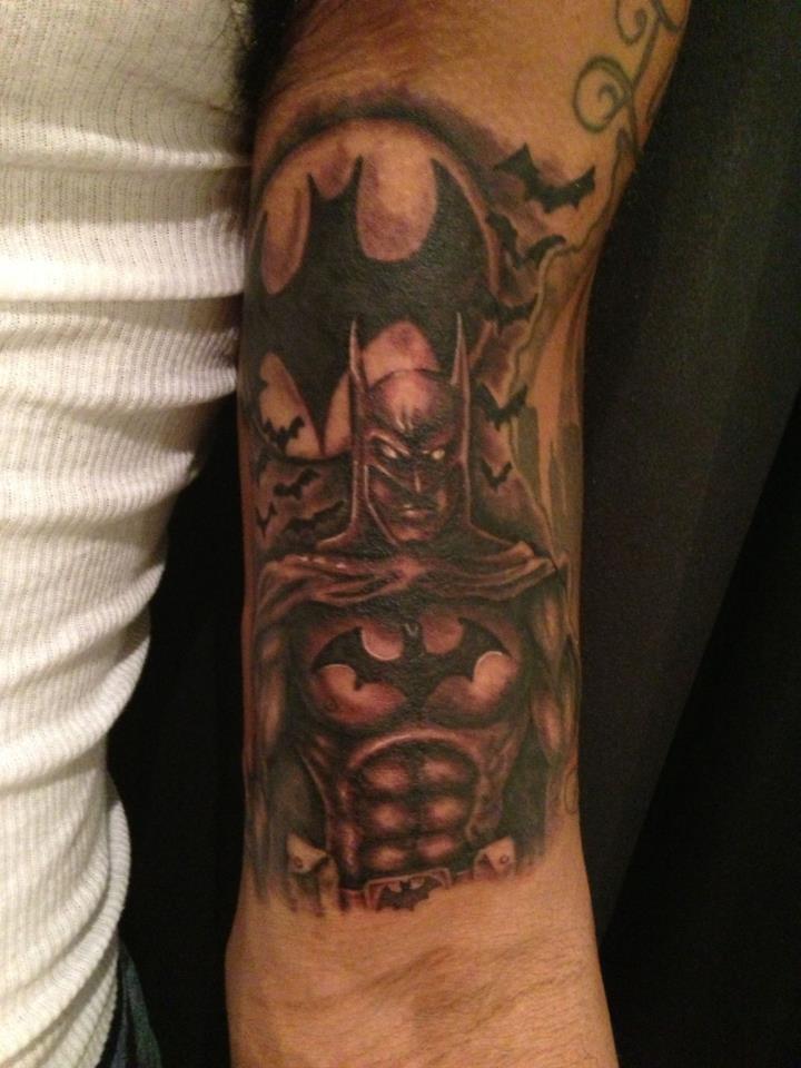 Batman tattoos for Bat sleeve tattoo