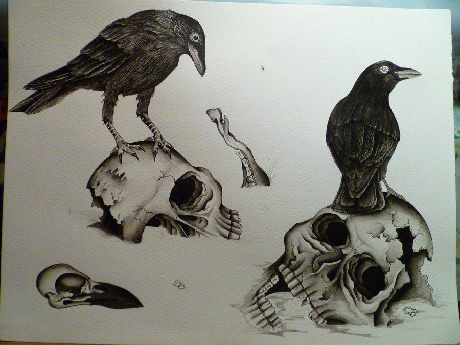 ripped skin crow tattoo on back shoulder. Black Bedroom Furniture Sets. Home Design Ideas