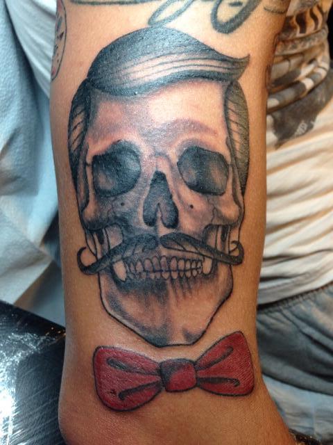 36 latest gangster skull tattoos. Black Bedroom Furniture Sets. Home Design Ideas