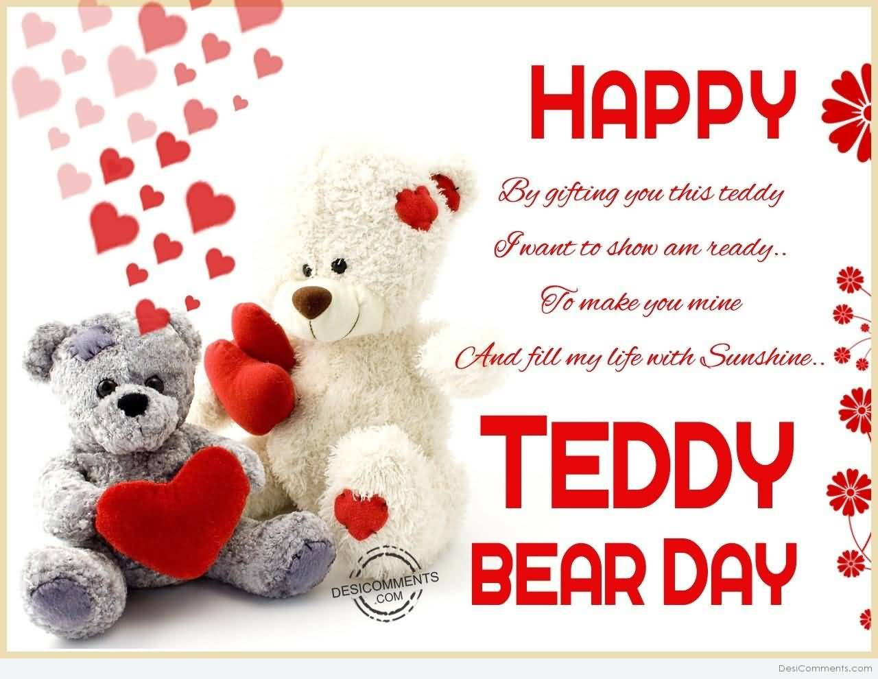 45 most beautiful teddy day greeting card pictures by gifting you this teddy i want to show am ready to make you mine and kristyandbryce Image collections