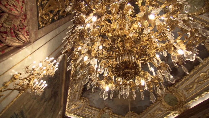 Chandelier Inside The Royal Palace Of Madrid
