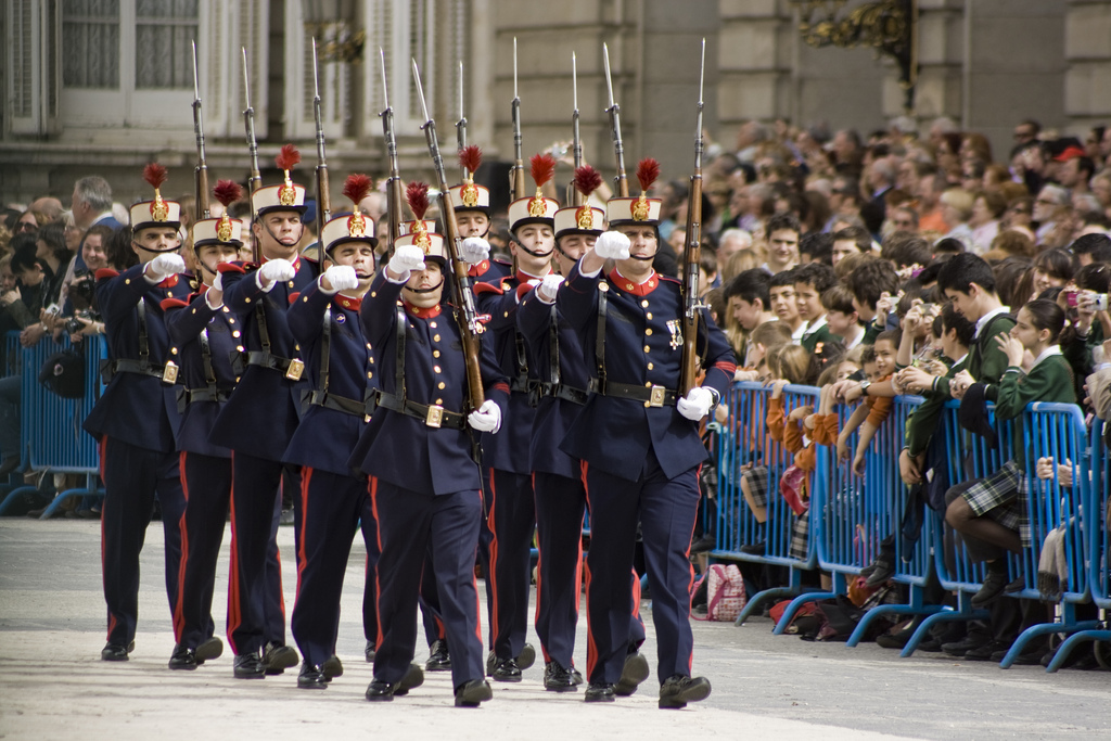 Changing Of The Guard At The  Royal Palace Of Madrid