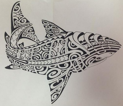 31 polynesian shark tattoos pictures. Black Bedroom Furniture Sets. Home Design Ideas