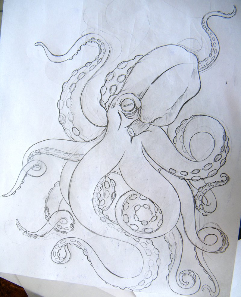Classic Octopus Tattoo Design