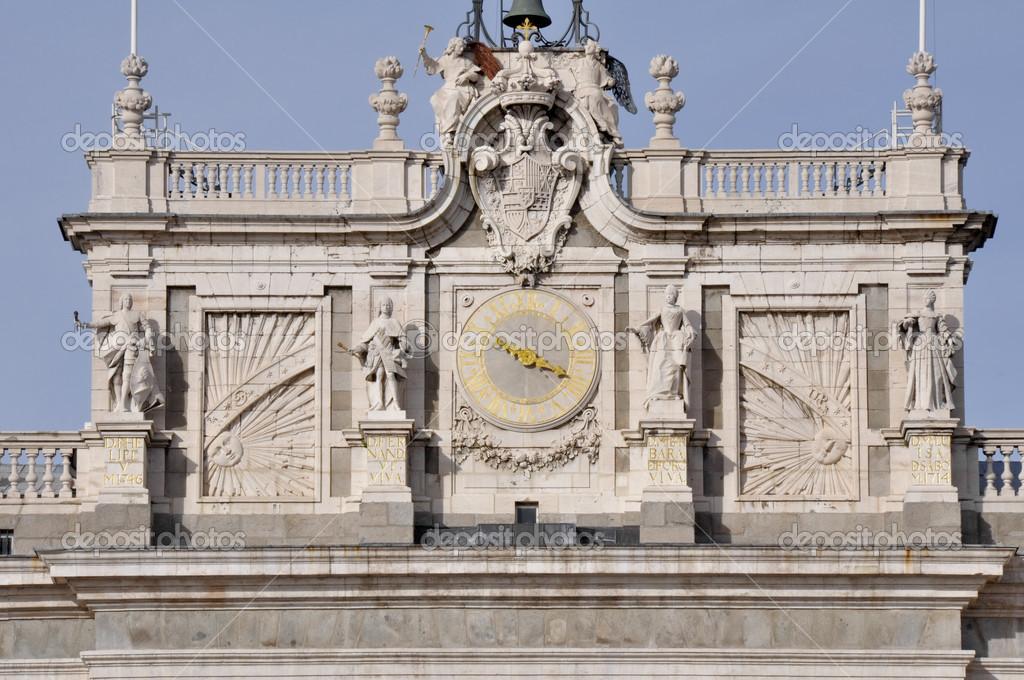 Clock Tower Of Royal Palace Of Madrid