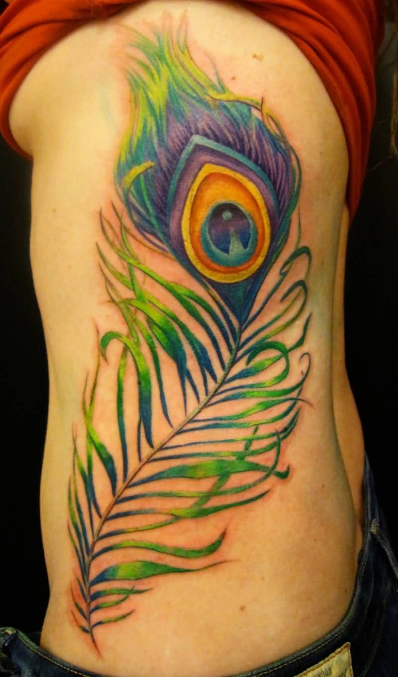 Peacock Tattoo: 25+ Colorful Peacock Feather Tattoos