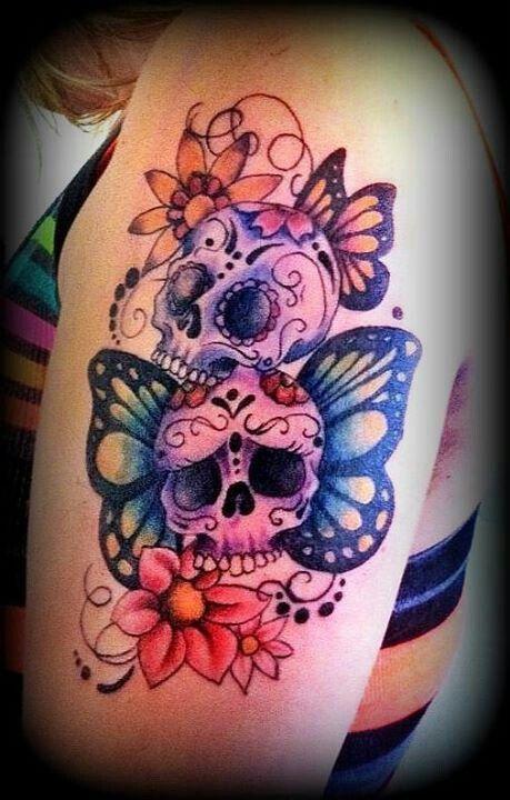 58 unique skull tattoos ideas and designs for Female skull tattoos