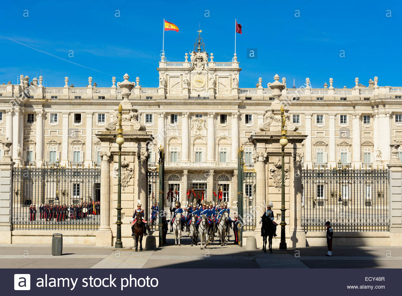 Departure Of The Guard Audience And King Philip At The Royal Palace Of Madrid