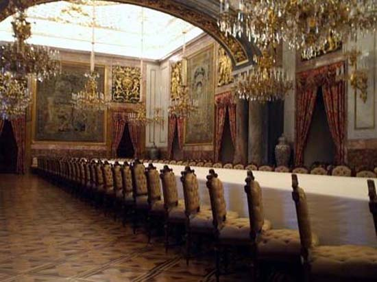 Dining Room Inside The Royal Palace Of Madrid