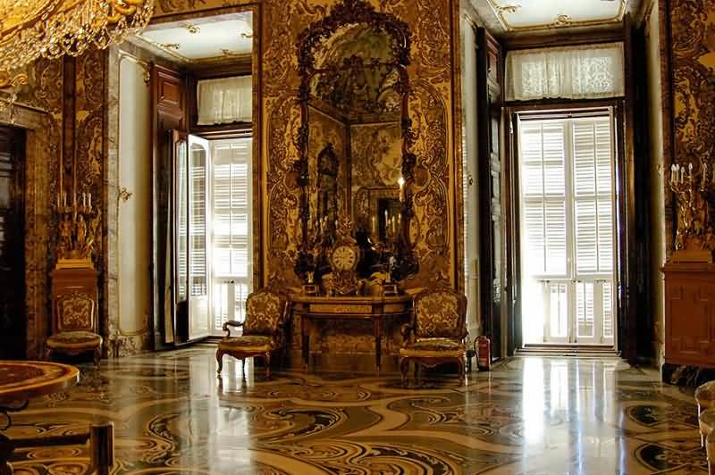 Dressing Room Inside The Royal Palace Of Madrid