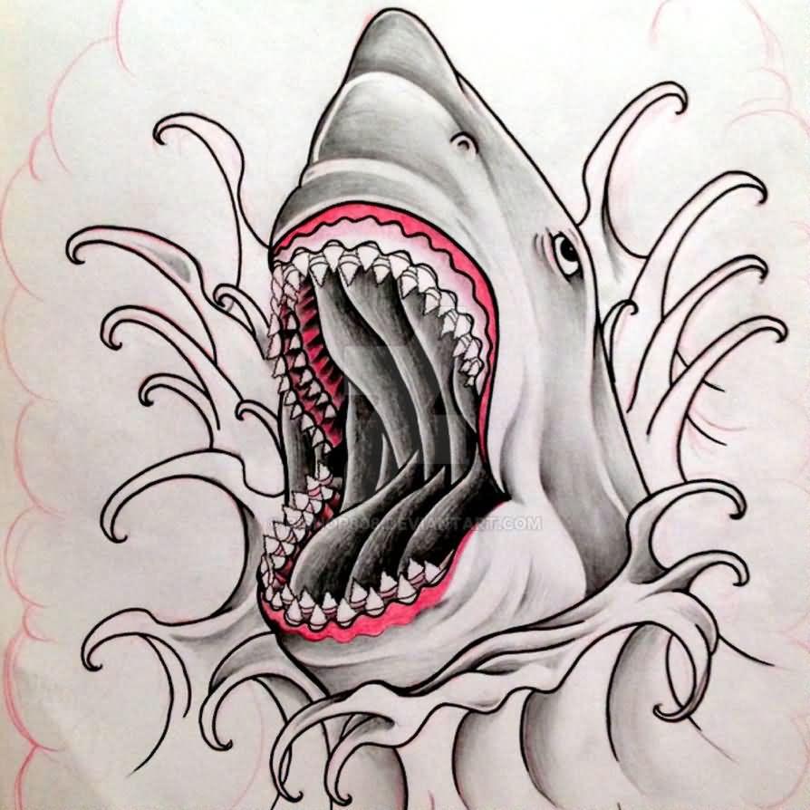 shark tattoos. Black Bedroom Furniture Sets. Home Design Ideas