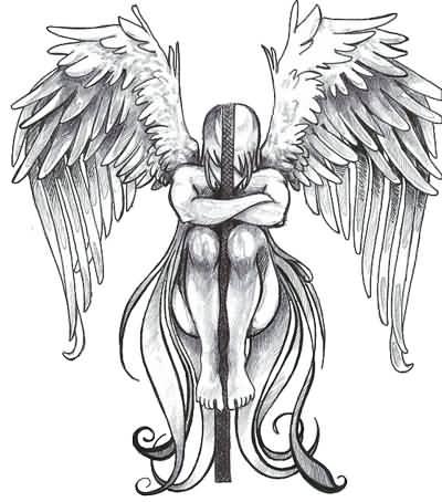 45 angel tattoos designs and samples fallen angel girl tattoo design altavistaventures Gallery