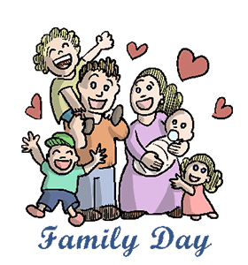 Family Day Wishes Clipart