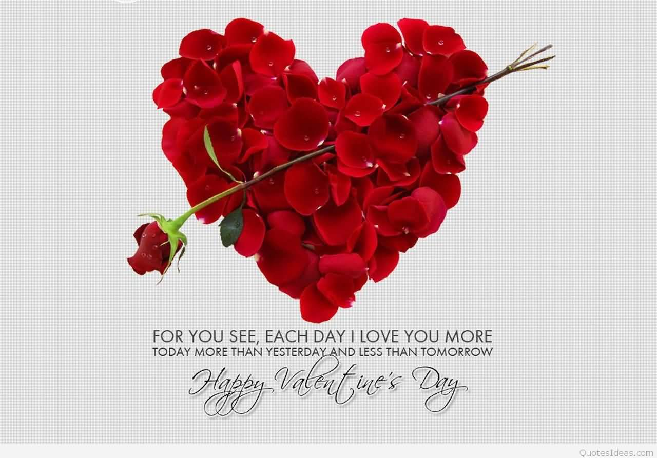 Be My Valentine Rose Flowers Wallpaper. For You See, Each Day I Love You  More Today More Than Yesterday And Less