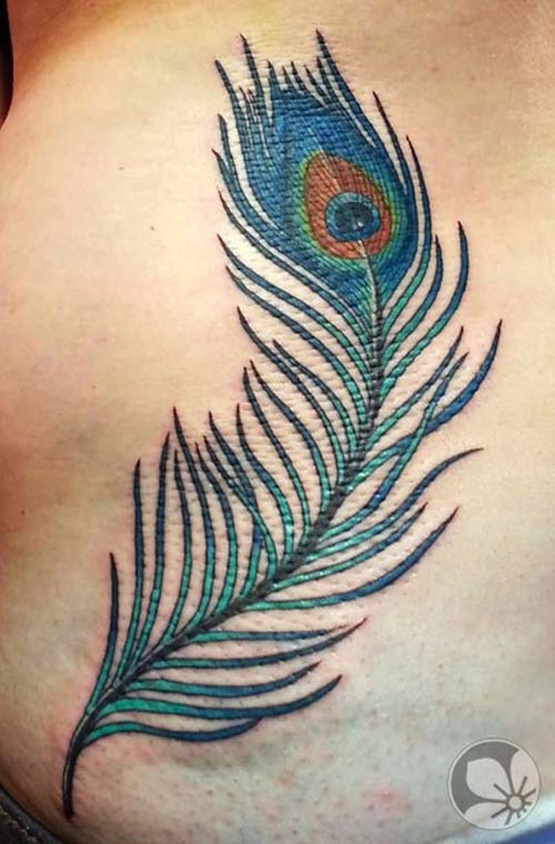 Goes beyond peacock feather tattoo think, that
