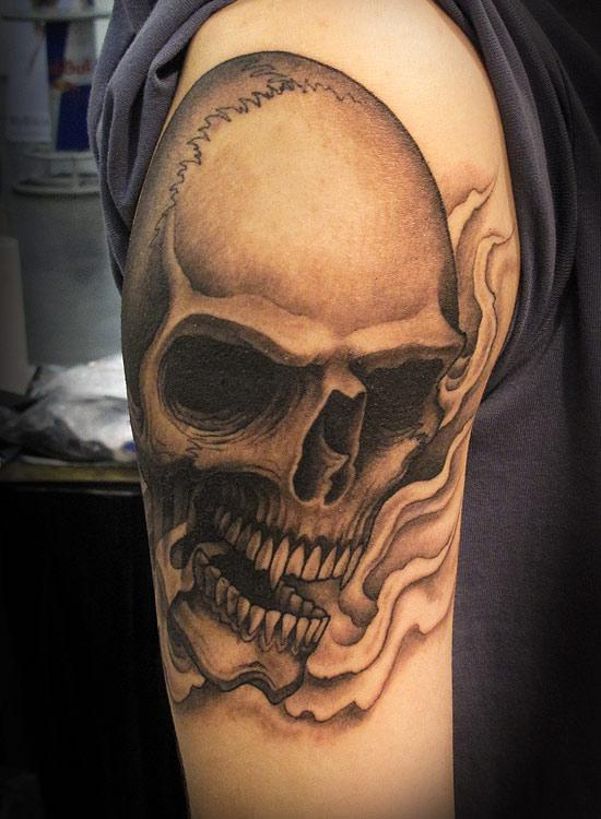 4ae33b68bf40c 35+ Best Grey Skull Tattoos Ideas And Collection