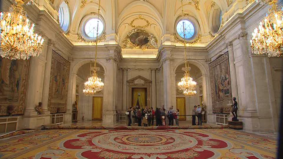 Hall Inside The Royal Palace Of Madrid