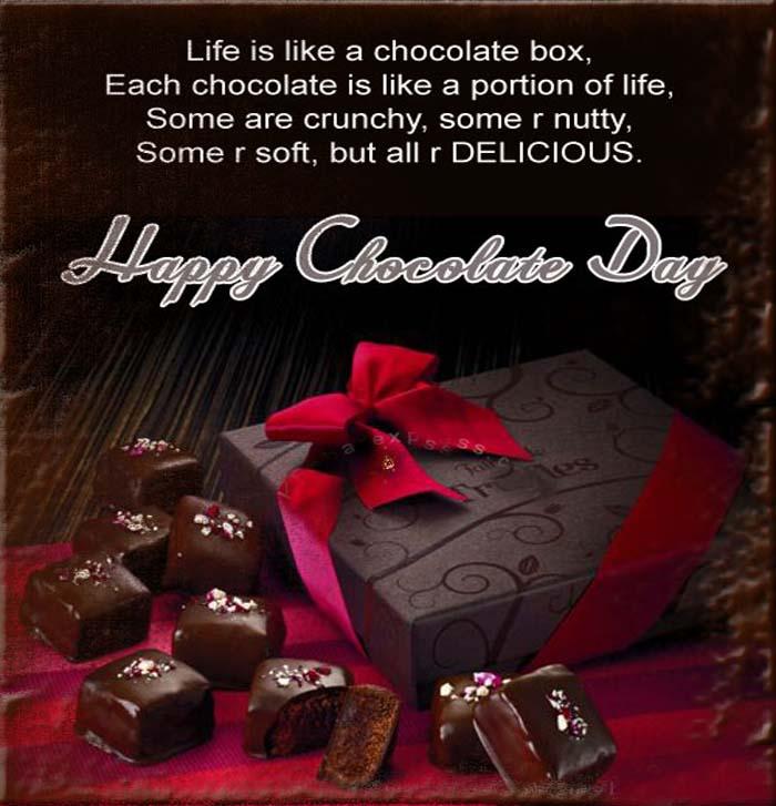 Happy chocolate day greeting card m4hsunfo