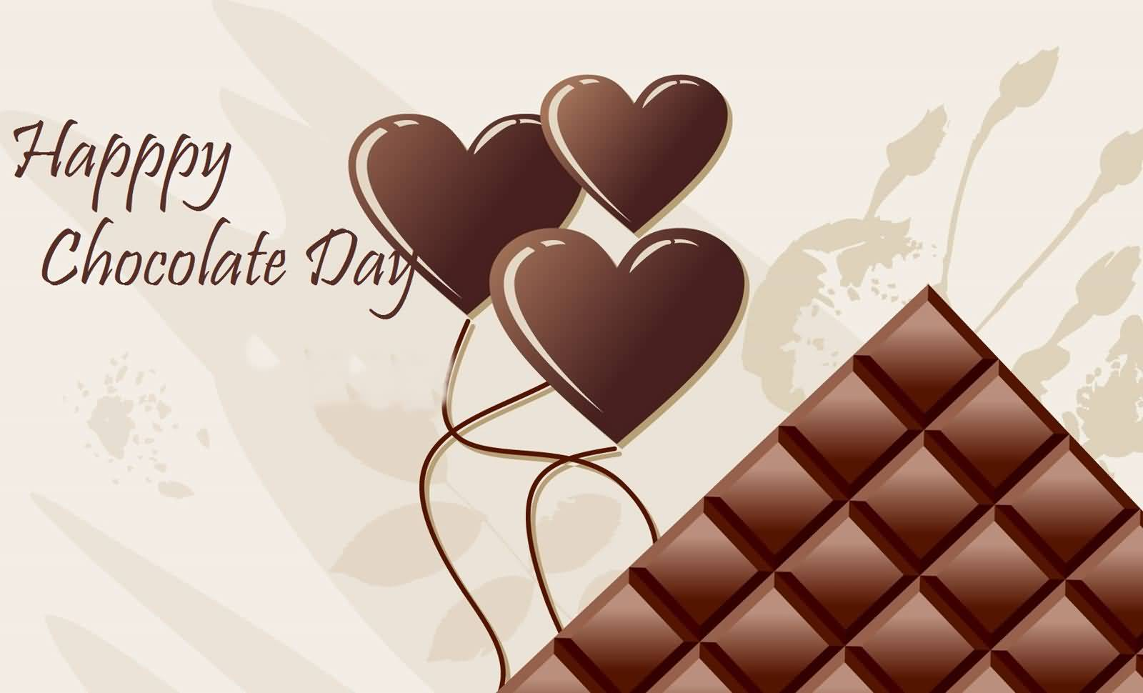 Happy Chocolate Day Heart Chocolates Picture