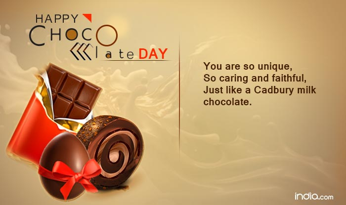 Happy chocolate day you are so unique so caring and faithful just happy chocolate day you are so unique so caring and faithful just like a cadbury milk chocolate thecheapjerseys Choice Image