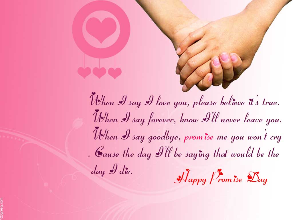 Happy Promise Day Beautiful Greeting Card