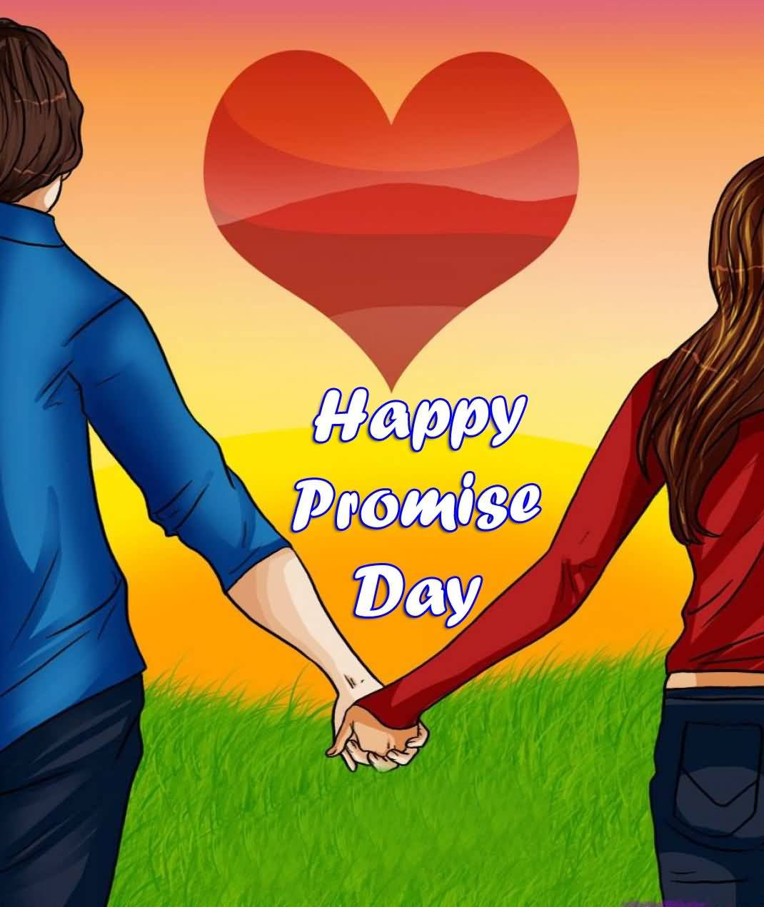 Happy Promise Day Couple Hand In Hand Picture