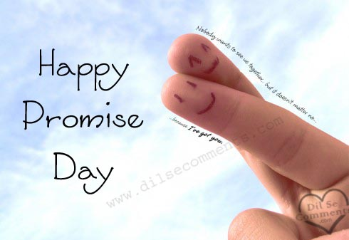 Happy Promise Day Cross Fingers Picture