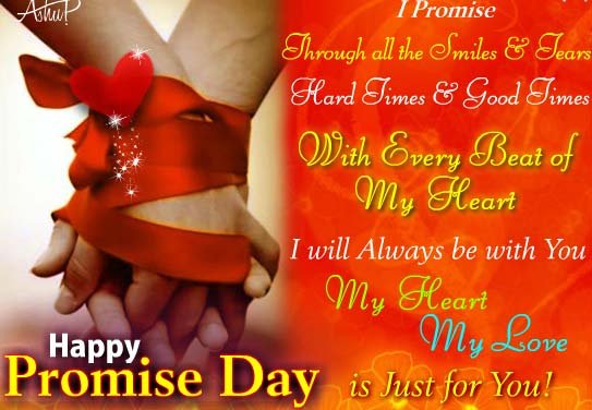 Happy promise day i will always be with you my heart my love is just for happy promise day i will always be with you my heart my love is just for you greeting card m4hsunfo