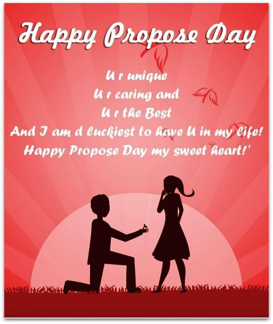 40 most beautiful propose day 2017 greeting cards happy propose day you are unique you are caring and you are the best greeting card kristyandbryce Images