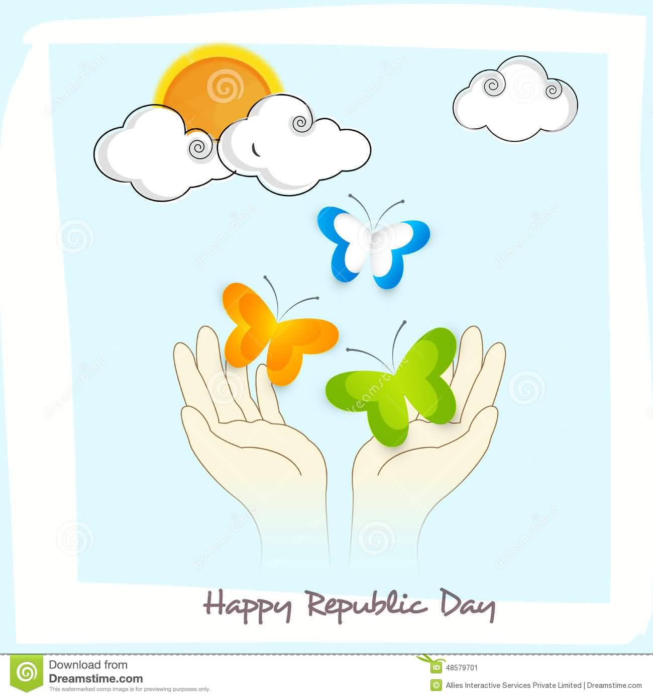 60 beautiful republic day india greeting card pictures happy republic day butterflies in hand greeting card m4hsunfo