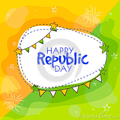 Happy republic day greeting card m4hsunfo
