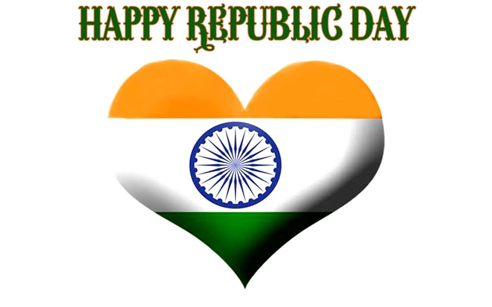 Happy Republic Day Indian Flag Heart Picture