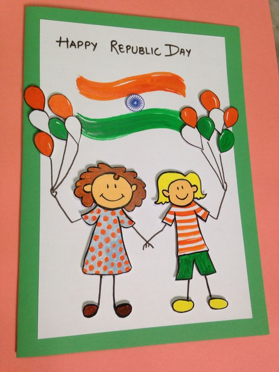 60 beautiful republic day india greeting card pictures happy republic day kids with tri color balloons greeting card m4hsunfo