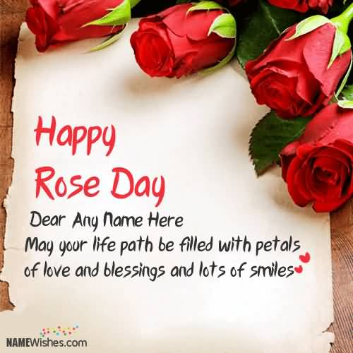 50 happy rose day greeting card images happy rose day greeting card for you m4hsunfo