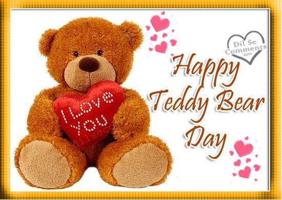 Happy teddy bear day greetings image m4hsunfo