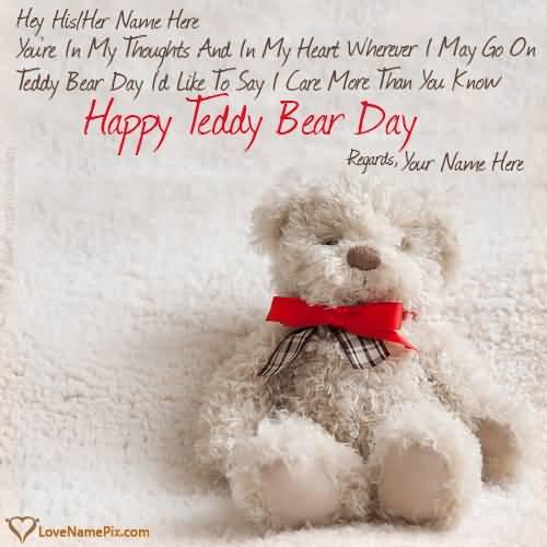 Happy Teddy Bear Day Greetings