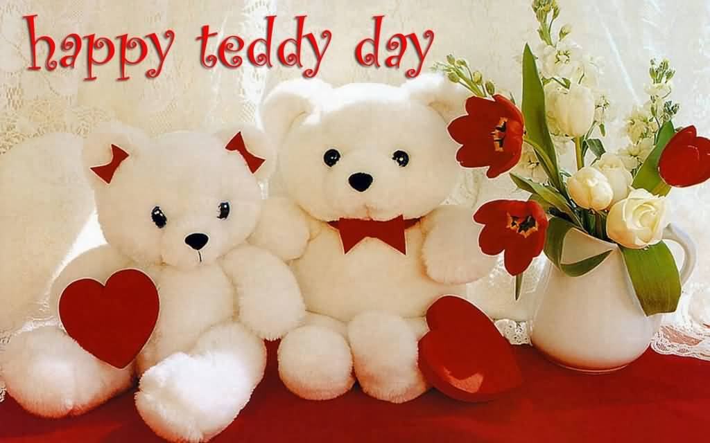 Happy Teddy Day Two Teddy Bears Picture