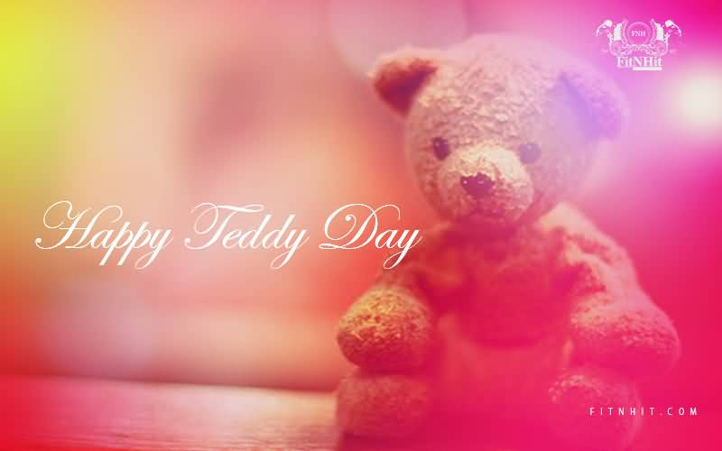 Happy Teddy Day Wishes Card