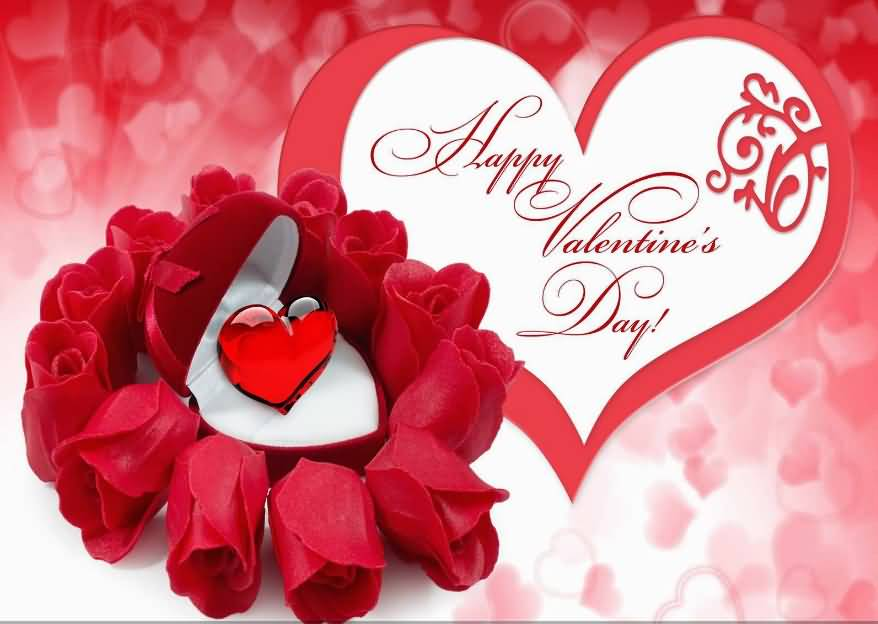 Happy Valentines Day Flowers Hearts